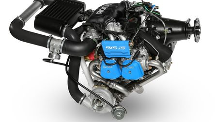 The 915 uses a turbocharger to sustain its high output at altitude