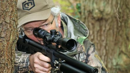 This is a hunting rifle that comes with all sorts of options.