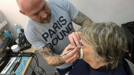 Mum really enjoyed her ten-minute makeover by Martin, or 'Mr Face'