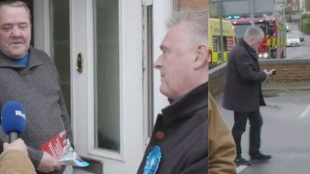 A Conservative candidate has been caught on video setting up a fake interview with a friend who was