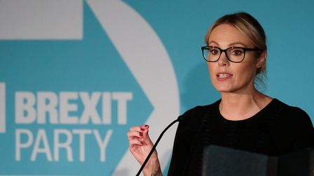 Former apprentice star and Brexit party parliamentary candidate for Hull, Michelle Dewberry. (Photo