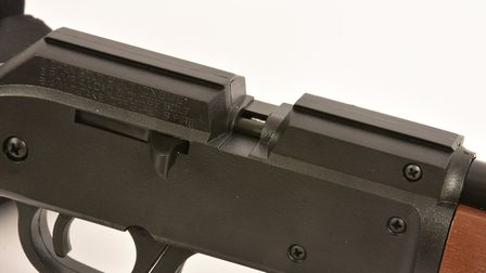 Pellets are loaded manually in this slot.