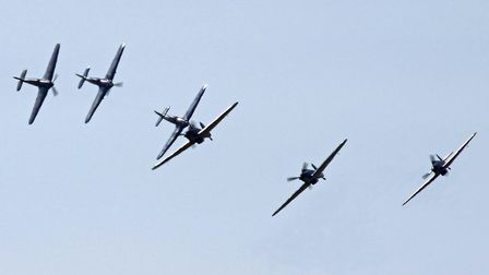 Six Hurricanes (Peter R March)