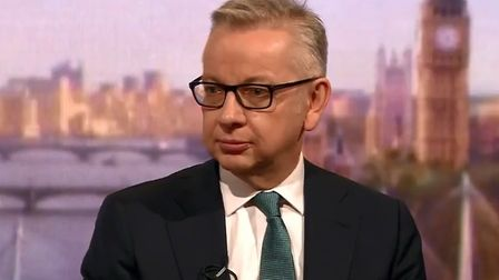 Michael Gove has been criticised for misrepresenting EU citizens' access to the NHS. Picture: BBC