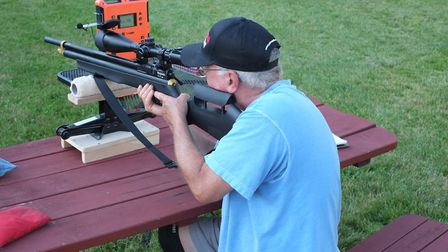 Doug Wall, shooting a Marauder during our initial experimental testing.