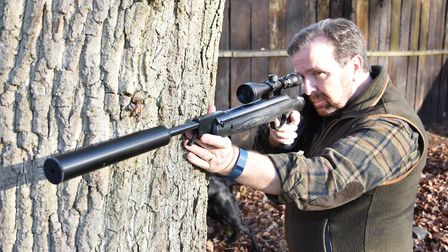 Reemeber any recoiling rifle must be insulated from a hard surface like this tree