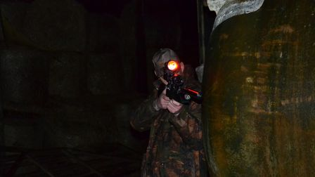 Lamping certainly isn't as covert as night vision, but it's still effective!