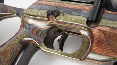 A truly superb, two-stage, adjustable trigger, but that safety-catch switch could do with a re-jig.