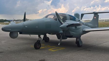 DEA's DA62 MPP at Wiener Neustadt (Austria) before leaving to its new home at Gamston Airport (UK)