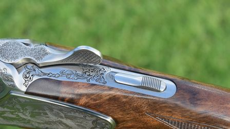 Blaser F16 Game Heritage Barrel selector & safety catch - also shows wood to metal fit