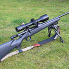 2. Mauser M18 in 243 with Minox ZX scope and Barton Sound Moderator to complement