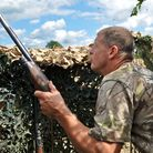 A good pigeon shot knows when to rise from the hide and time his shot smoothly