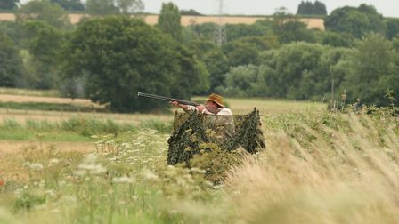 A good field hide will make your day out on the pigeons much more successful if there are no hedges