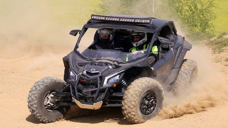 Off road vehicle using the engine