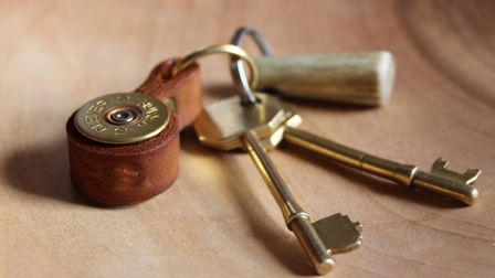 Shotgun cartridge key ring from J Boult Designs... handmade and completely unique!