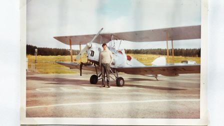 Henry's newly purchased Tiger Moth album photo