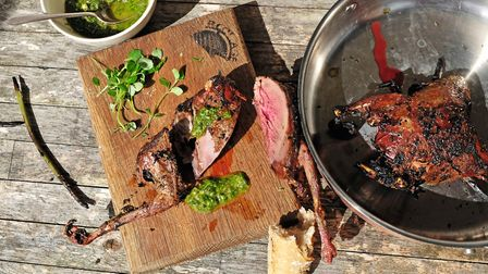 Most meat and fish tastes better when cooked on the bone, so have a change from pigeon breast and wo