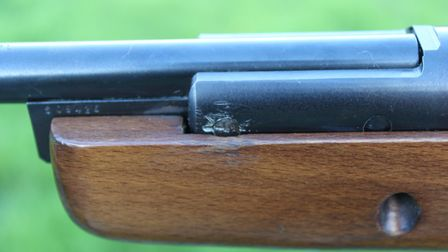 Barrel-retaining pins show signs of damage, and probably wear, as well