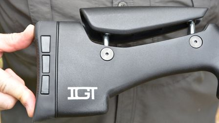 An adjustable height cheek piece and a grippy but pad are welcome upgrades on any rifle.