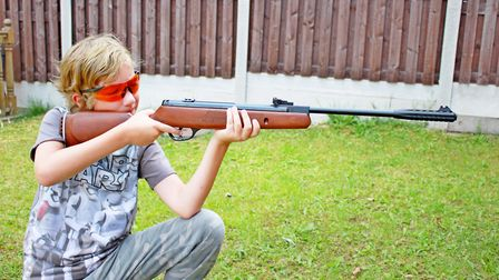 The rifle fits a junior.