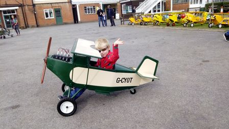 Brooklands Museum world pedal plane record