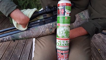 A preventative film of protective gun oil should keep the Scorpion tip top condition