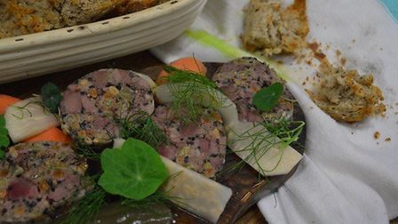 A beautiful game terrine to start when you visit The Rabbit