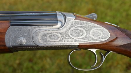 The Guerini 20-bore side plates are perfect for walked up, hide or driven game shooting