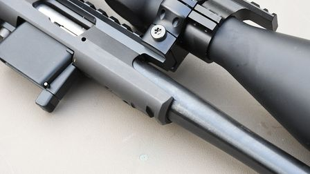 2. Although a rimfire action is shorter, Tikka have left a toe like projection beneath to remain dim