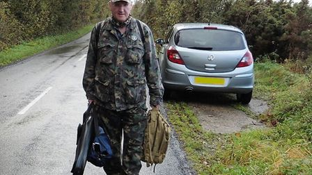 Paking the car I carried my kit to the woods
