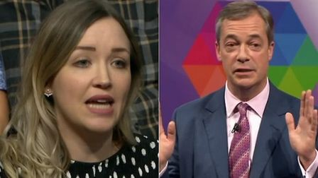 Nigel Farage's claims he is a man of the people is pulled apart by this young audience member on BBC