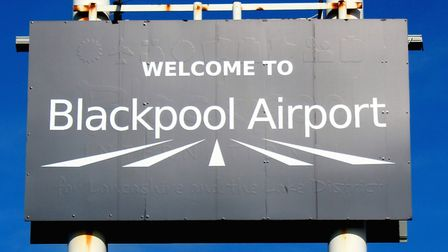 Blackpool Airport sign