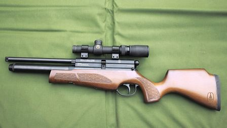 Side views of the BSA Ultra fitted with a Simmons Whitetail 1-5 x 20 scope.