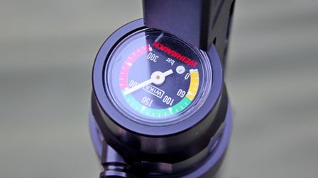 The pressure gauge is useful - just don't look down the barrel.