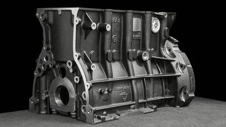 Engine block of one of the Austro Engine AE300 / AE330 pre-series engines