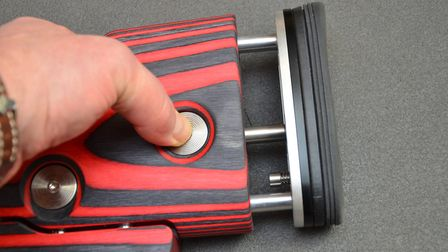 Push-button adjusters so no tools needed