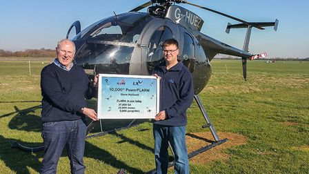 The 10,000th PowerFLARM customer was Steve Halliwell from Manchester