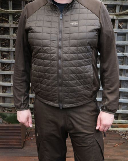 mid layer is warm but not bulky and easy to remove from the main jacket