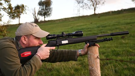 1. Savage B17 .17HMR is a great Rabbiting work tool you are happy to rest on a post, not a `pedestal