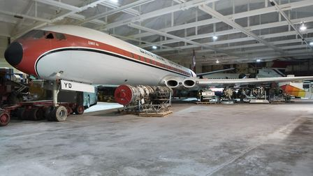 Comet aircraft in storage at the National Collection Centre © The Board of Trustees of the Science M