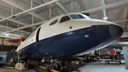 Trident aircraft in storage at the National Collection Centre © The Board of Trustees of the Science