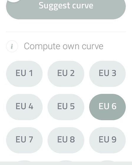 10. The Leica curve to suit your ammunition can be selected either using a connected APP or on the R