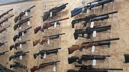 The shop has a huge selection of PCP and springer rifles and pistols.