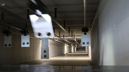 The targets can be set at any distance up to 100 yards and recalled at the push of a button