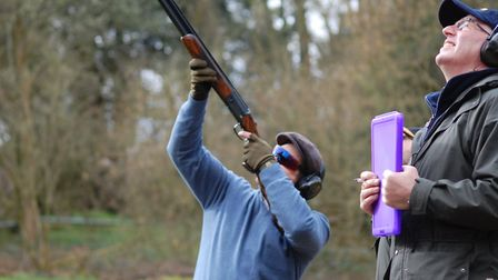 sporting clay shooter