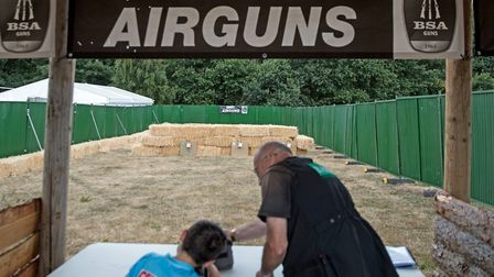 Anyone can 'have a go' at shooting airguns on the various manned ranges