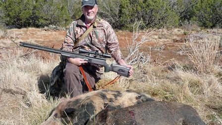 When going after the big feral hogs, my preference is a powerful rifle such as this .457 AoA Bushbuc