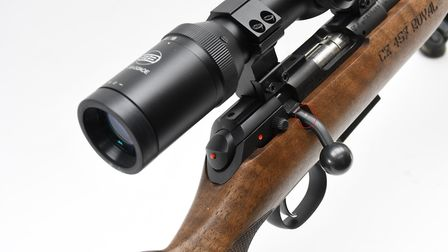 11. Note the light scoring where the bolt handle has contacted the scope mount screws, keep your eye