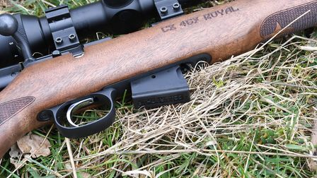 4. CZ's familiar 5 round single column magazines are cheap and easily available