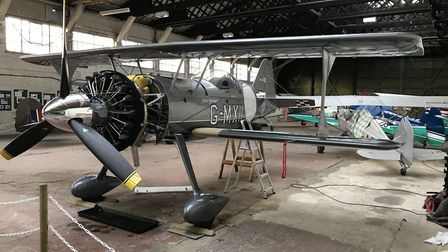 Final assembly in WWI hangar Old Sarum